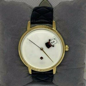 Kate Spade Unisex Leather White Dial Watch E204